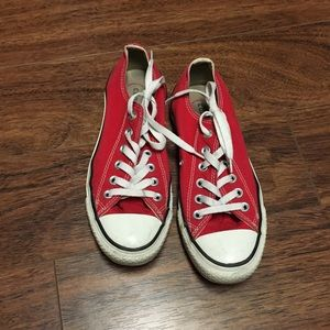 Cinverse red low top sneakers